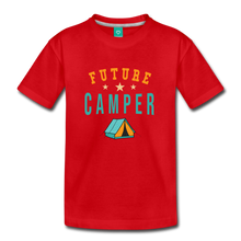 Load image into Gallery viewer, Toddler Future Camper T-Shirt - red