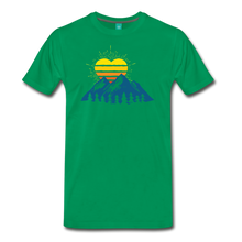 Load image into Gallery viewer, Men's Mountains Sun Heart T-Shirt - kelly green