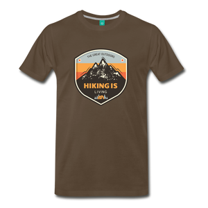 Men's Hiking T-Shirt - noble brown