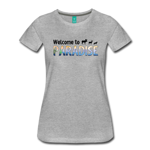 Women's Welcome to Paradise T-Shirt - heather gray