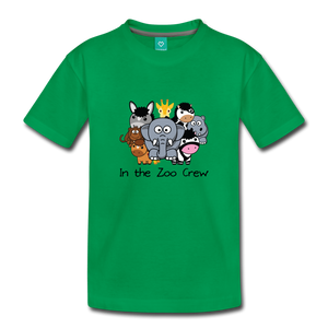 Toddler In the Zoo Crew T-Shirt - kelly green