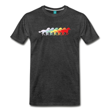 Load image into Gallery viewer, Men's Retro Rainbow Horse T-Shirt - charcoal gray