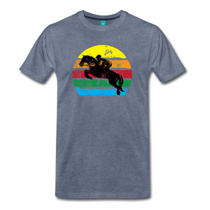 Men's Jumping Sun T-Shirt - heather blue