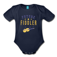 Load image into Gallery viewer, Future Fiddler Baby Bodysuit - dark navy