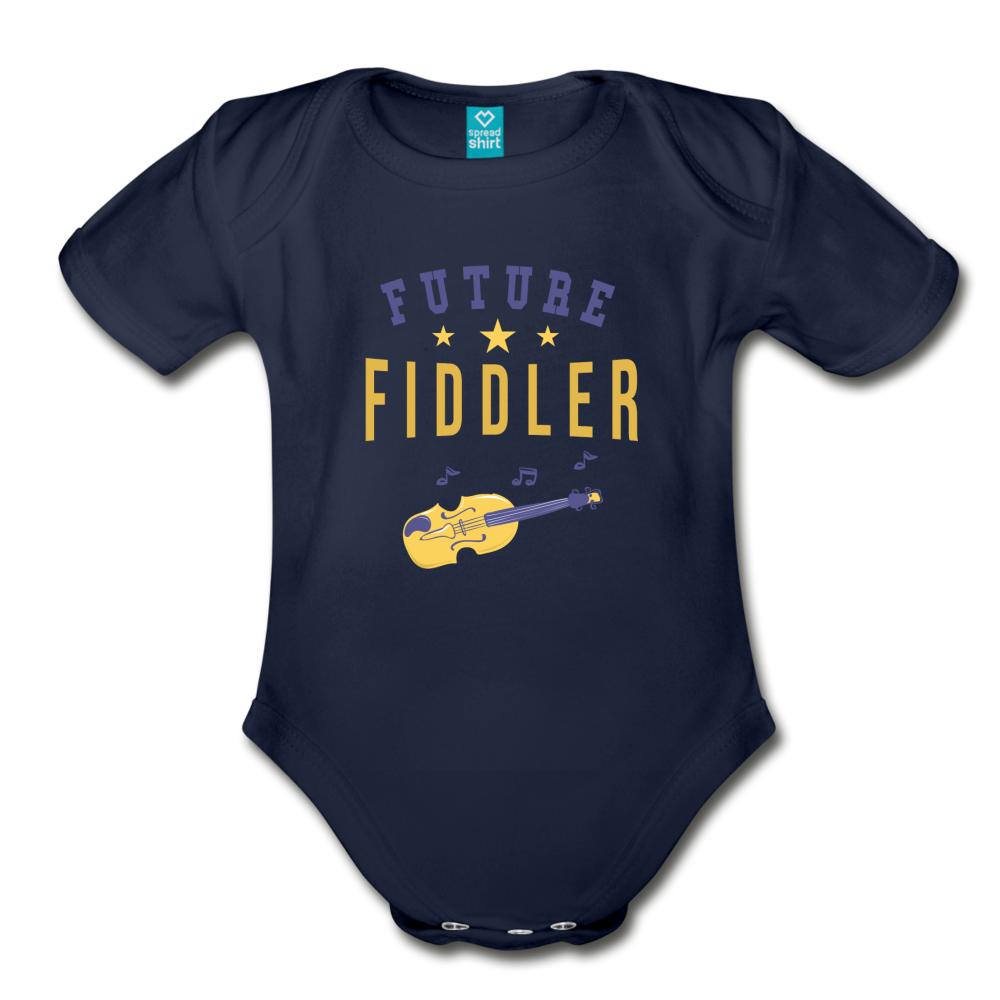 Future Fiddler Baby Bodysuit - dark navy