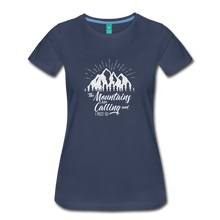 Load image into Gallery viewer, Women's Mountains T-Shirt (white) - navy