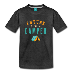 Toddler Future Camper T-Shirt - charcoal gray