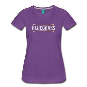 Women's Bluegrass T-Shirt - purple