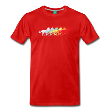 Load image into Gallery viewer, Men's Retro Rainbow Horse T-Shirt - red