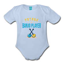Load image into Gallery viewer, Future Banjo Player Baby Bodysuit - sky