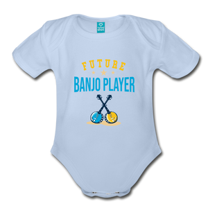 Future Banjo Player Baby Bodysuit - sky
