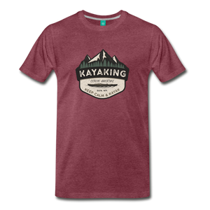 Men's Kayaking T-Shirt - heather burgundy
