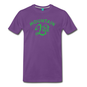 Men's Mountain Life (script) T-Shirt - purple