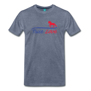 Men's True Love T-Shirt - heather blue