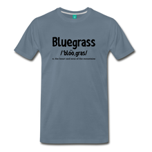 Load image into Gallery viewer, Men's Bluegrass Definition T-Shirt - steel blue