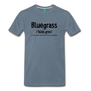 Men's Bluegrass Definition T-Shirt - steel blue