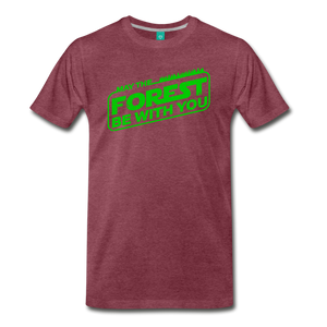 Men's May the Forest be with You T-Shirt - heather burgundy