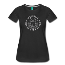 Load image into Gallery viewer, Women's Distressed Mountain Life T-Shirt - black