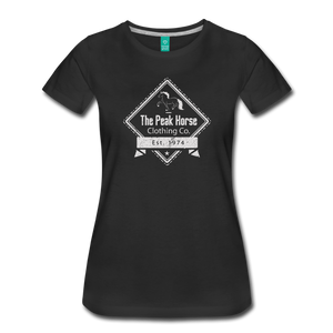 Women's The Peak Horse Diamond T-Shirt - black