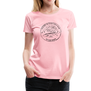 Women's Followed My Heart (distressed) T-Shirt - pink