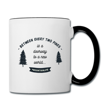 Load image into Gallery viewer, Between Every Two Pines Coffee Mug - white/black