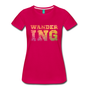 Women's Wandering T-Shirt - dark pink
