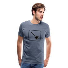 Load image into Gallery viewer, Men's Banjo Icon T-Shirt - heather blue