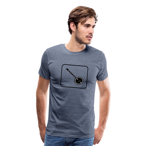 Men's Banjo Icon T-Shirt - heather blue