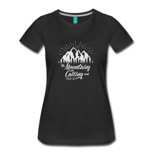 Load image into Gallery viewer, Women's Mountains T-Shirt (white) - black