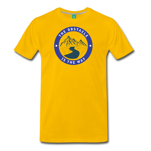 Men's Obstacle is the Way T-Shirt - sun yellow