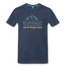 Load image into Gallery viewer, Men's Bluegrass Mountains Speak T-Shirt - navy