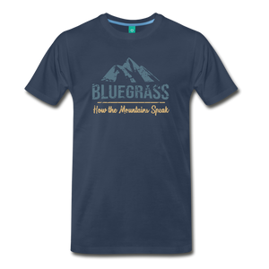 Men's Bluegrass Mountains Speak T-Shirt - navy