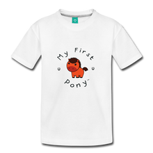 Load image into Gallery viewer, Toddler My First Pony T-Shirt (red) - white