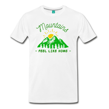 Load image into Gallery viewer, Men's Mountains Feel Like Home T-Shirt - white