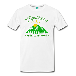 Men's Mountains Feel Like Home T-Shirt - white
