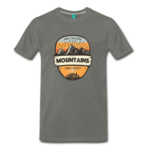 Men's Mountain's Calling T-Shirt - asphalt
