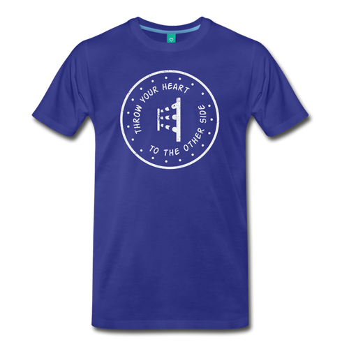Men's Throw Your Heart T-Shirt - royal blue