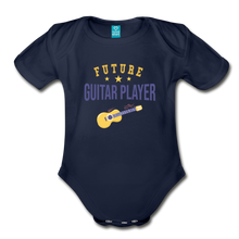 Load image into Gallery viewer, Future Guitar Player Baby Bodysuit - dark navy