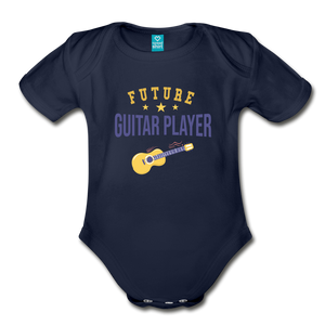 Future Guitar Player Baby Bodysuit - dark navy