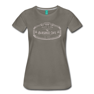 Women's The Bluegrass Cafe (music is life) T-Shirt - asphalt