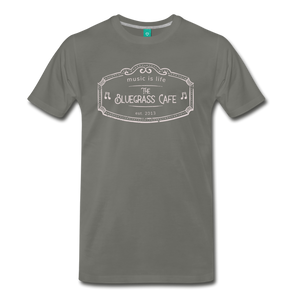 Men's The Bluegrass Cafe (music is life) T-Shirt - asphalt