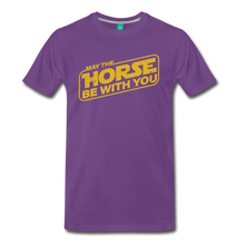 Load image into Gallery viewer, Men's May The Horse be with You T-Shirt - purple
