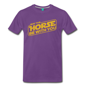 Men's May The Horse be with You T-Shirt - purple