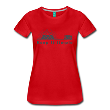 Load image into Gallery viewer, Women's RV Keep It Simple T-Shirt - red