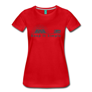 Women's RV Keep It Simple T-Shirt - red