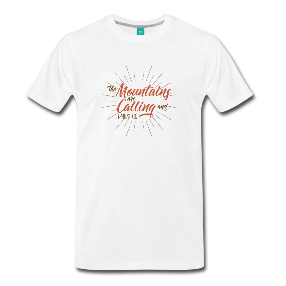 Men's Mountain Calling T-Shirt - white