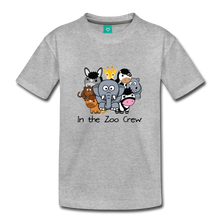 Load image into Gallery viewer, Kids' In the Zoo Crew T-Shirt - heather gray