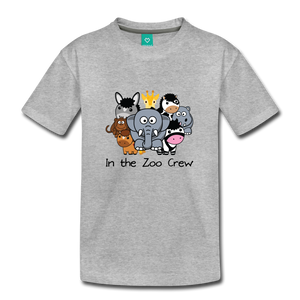 Kids' In the Zoo Crew T-Shirt - heather gray
