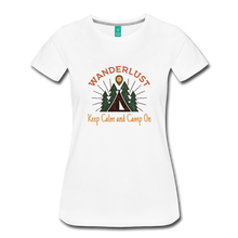 Load image into Gallery viewer, Women's Keep Calm, Camp On - white