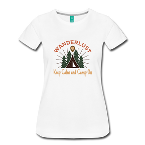 Women's Keep Calm, Camp On - white